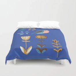 hygge blue bird Duvet Cover