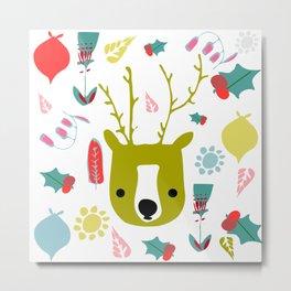 cute Christmas deer Metal Print