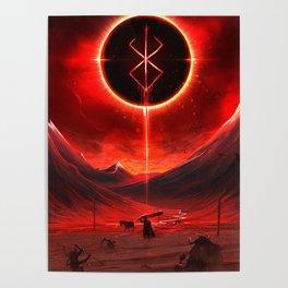 Berserk Demon Mark Moon Poster