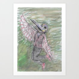 blackdeath birdman Art Print