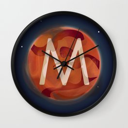 M is for Mars. Wall Clock
