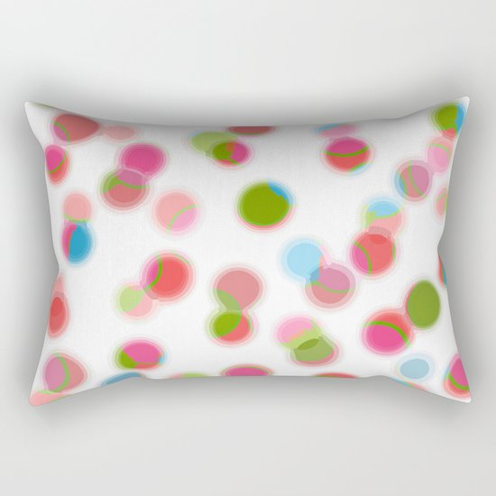 green red blue experiment Rectangular Pillow
