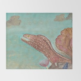 Spotted Moray eel Throw Blanket