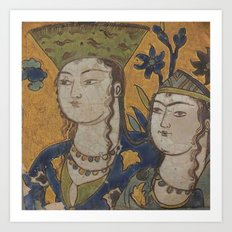 persian painting Art Print