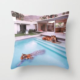 Palm Springs Tigers Throw Pillow
