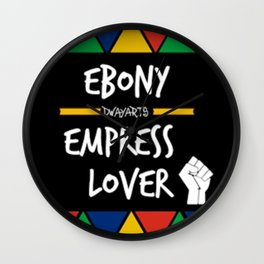 Ebony Empress Lover Wall Clock