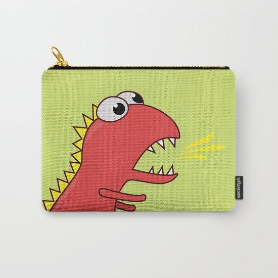 Cute Cartoon Dinosaur With Fire Breath Carry-All Pouch
