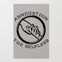 divergent Canvas Prints featuring Divergent - Abnegation The Selfless by Lunil