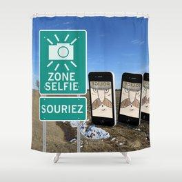 Zone Selfie - Souriez Shower Curtain
