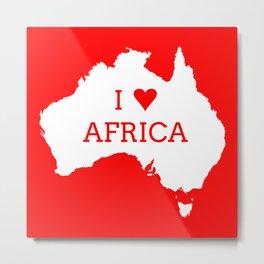 I Love Africa Metal Print