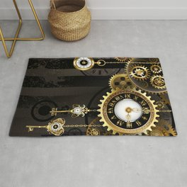Antique Clock with Keys ( Steampunk ) Rug