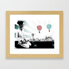 terrain de jeux  Framed Art Print