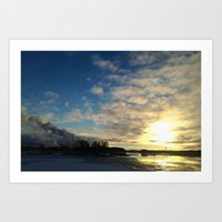 Sunset at Oulu Art Print