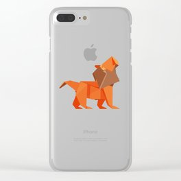 Origami Lion Clear iPhone Case