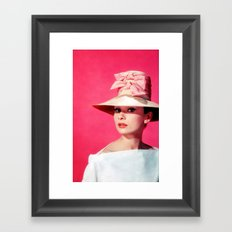 Audrey Hepburn Pink Version - for iphone Framed Art Print