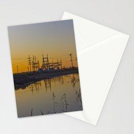 Powerline Sunset Stationery Cards