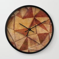 brown Wall Clocks featuring Brown by jbjart