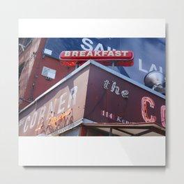 The Corner Restaurant in NYC Metal Print