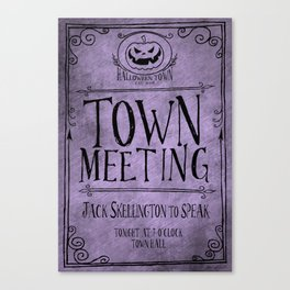 Town Hall Meeting Flyer Canvas Print