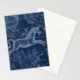 Unicorn stars sky map Stationery Cards