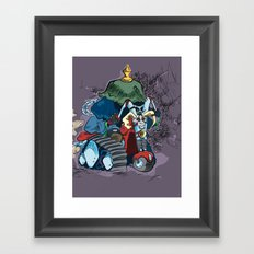 Trike Rider Framed Art Print