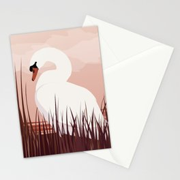 Swan in Dawn Stationery Cards