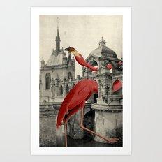 NUMBER 17 (FLAMINGO) Art Print