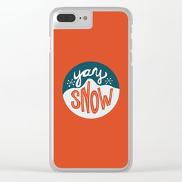 yay snow Clear iPhone Case