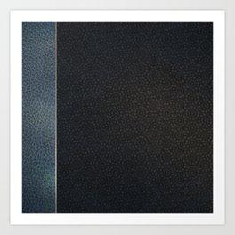 Unique Dark Patterned Leather Art Print