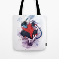 nightcrawler Tote Bags featuring Jumper by ribkaDory