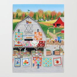 Autumn Quilts Poster