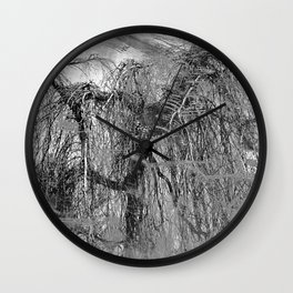 RELAX... It's Just A (Black&White) MINDfuck! Wall Clock