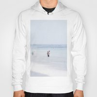 swimming Hoodies featuring Swimming by Pure Nature Photos
