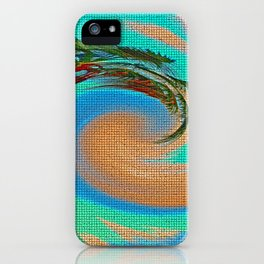 """Tropical Hurricane From A Screen Door"" Print iPhone Case"