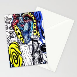 clusters and pretty girls Stationery Cards