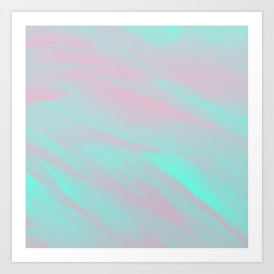 flamingo feathers Art Print