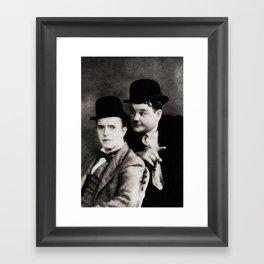 Laurel and Hardy, Vintage Comedy Actors Framed Art Print