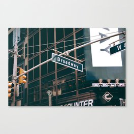 Broadway Street Sign (Color) Canvas Print