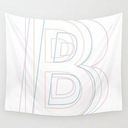 Intertwined Strength and Elegance of the Letter B Wall Tapestry