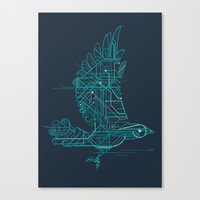 wind Canvas Prints featuring Wind-Up Bird by Jay Fleck