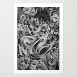 Tip Toe Through Art Print