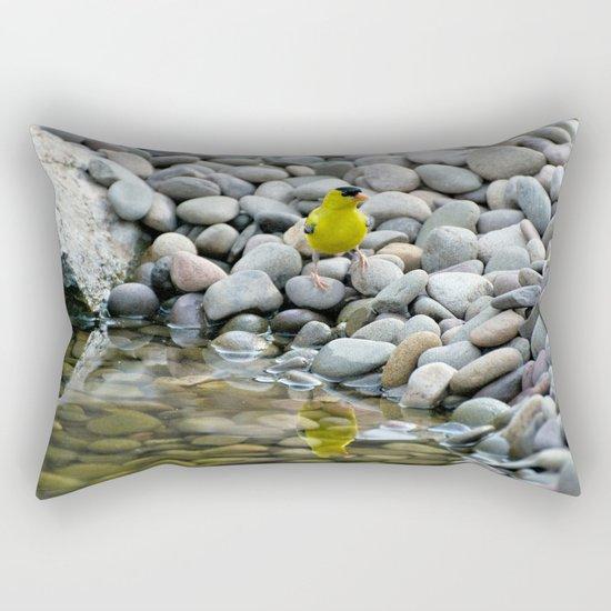 Golden Reflections Rectangular Pillow