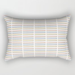 Hand Drawn Stripes Vector Pattern Background Lines Rectangular Pillow
