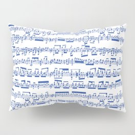 Blue Sheet Music Pillow Sham