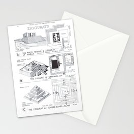 Fletcher's History of Architecture (1946) - West Asiatic Architecture - Ziggurats of the Middle East Stationery Cards