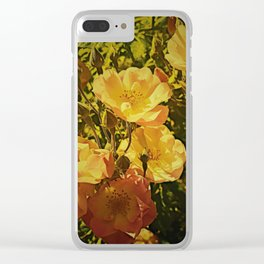 Vintage Climbing Roses Clear iPhone Case