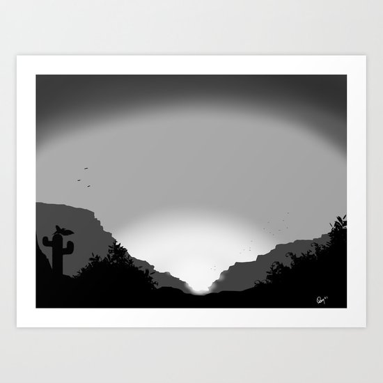 landscape view  Art Print