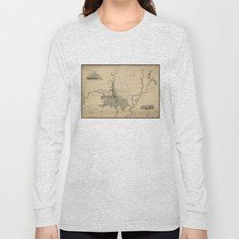 Vintage Map of Providence Rhode Island (1823) Long Sleeve T-shirt