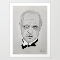 the godfather Art Prints featuring Godfather by Zé gouveia