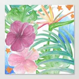 Malia's Tropical Print Canvas Print